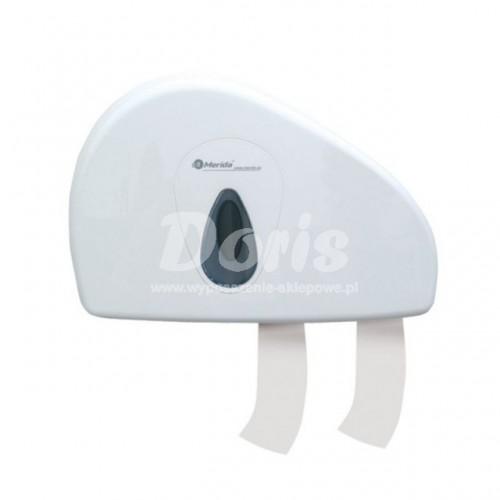 Pojemnik na papier toaletowy z uchwytem na resztkę rolki z szarym okienkiem