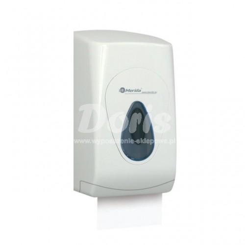 Pojemnik na papier toaletowy w listkach z tworzywa ABS posiadający szare okienko BTS401/MER