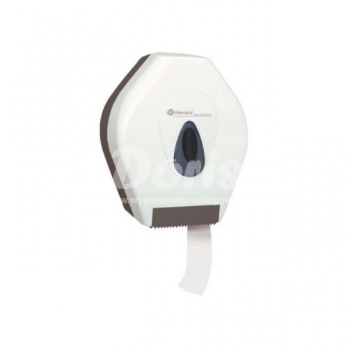 Pojemnik na papier toaletowy z szarym okienkiem i tyłem BPB201/MER