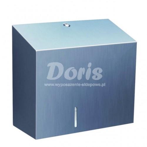 Pojemnik na papier toaletowy z uchwytem na resztkę rolki papieru ze stali matowej BSM202/MER