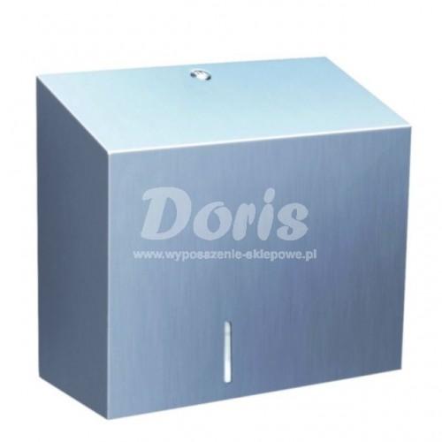 Pojemnik na papier toaletowy z uchwytem na resztkę rolki papieru ze stali polerowanej