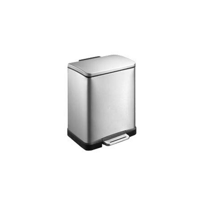 Kosz prostokątny wykonany ze stali matowej o pojemności 12 litrów KIM426/MER