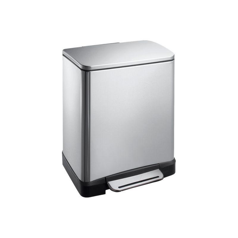 Kosz prostokątny wykonany ze stali matowej o pojemności 20 litrów KIM427/MER
