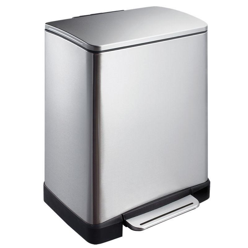 Kosz prostokątny wykonany ze stali matowej o pojemności 50 litrów KIM425/MER