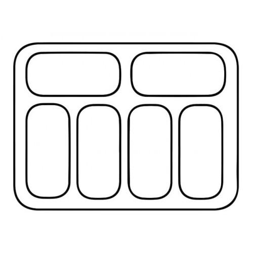 Dystrybutor do lodów o pojemności 6x5l RQ0125