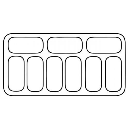 Dystrybutor do lodów o pojemności 9x5l RQ0130