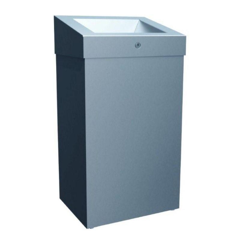 Kosz ze stali nierdzewnej z otwartą pokrywą o pojemności 47 litrów KSM102/MER