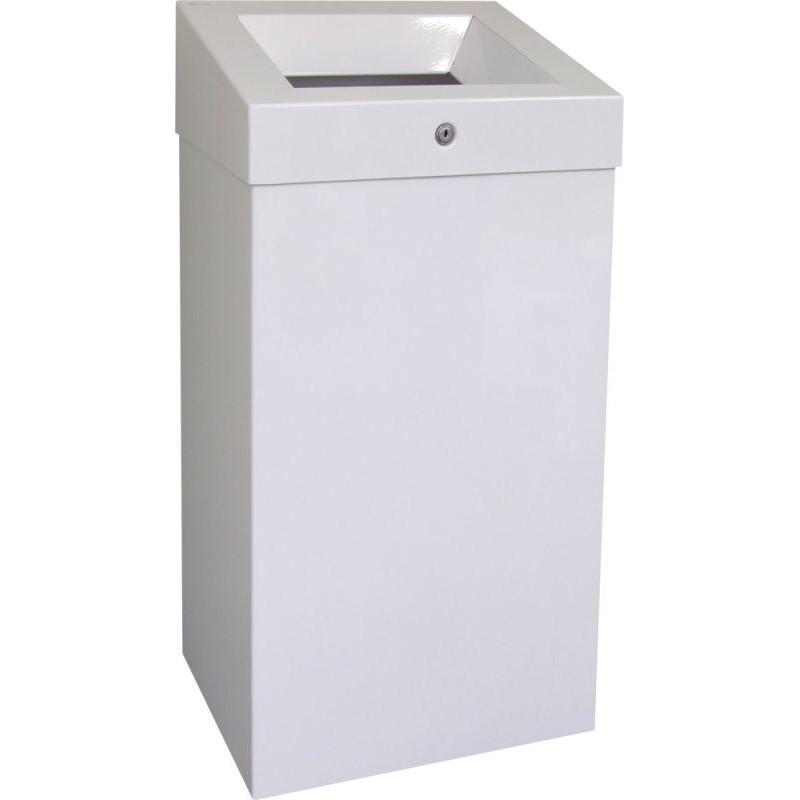 Kosz na odpady otwarty w kolorze białym o pojemności 47 litrów KSB102/MER