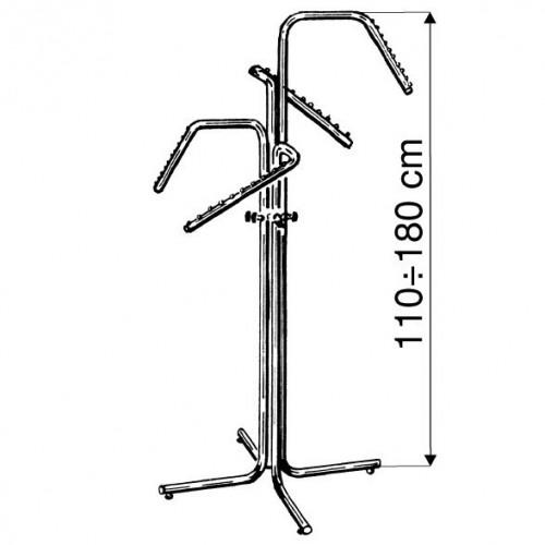 Stojak czteroramienny do sklepu, odzieży, garderoby, chromowany na kółkach, regulowany ST3711-0