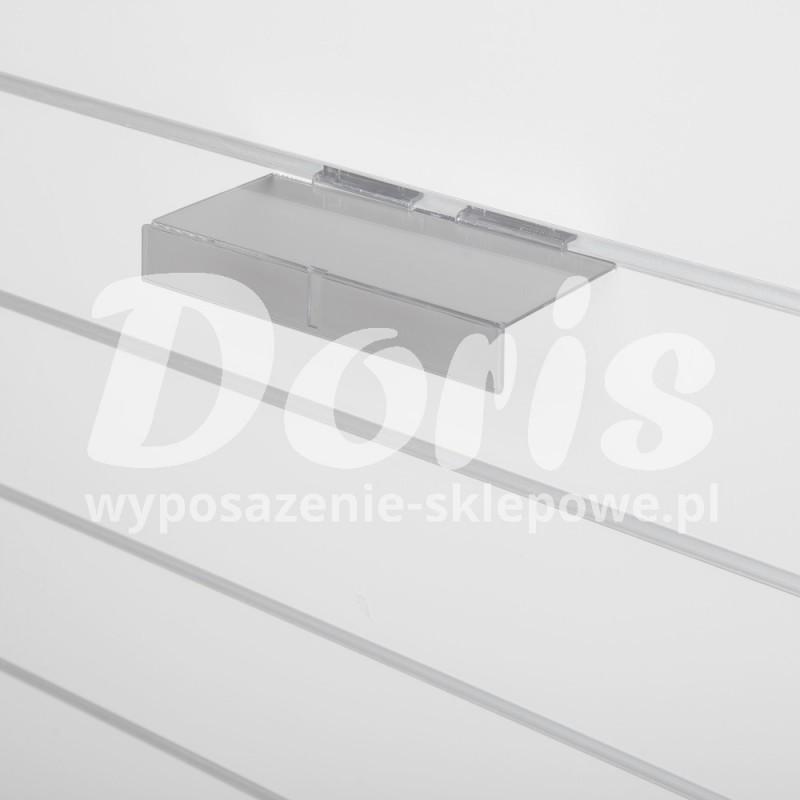 Półka z listwą cenową zewnętrzna wykonana z plexi SW615-A