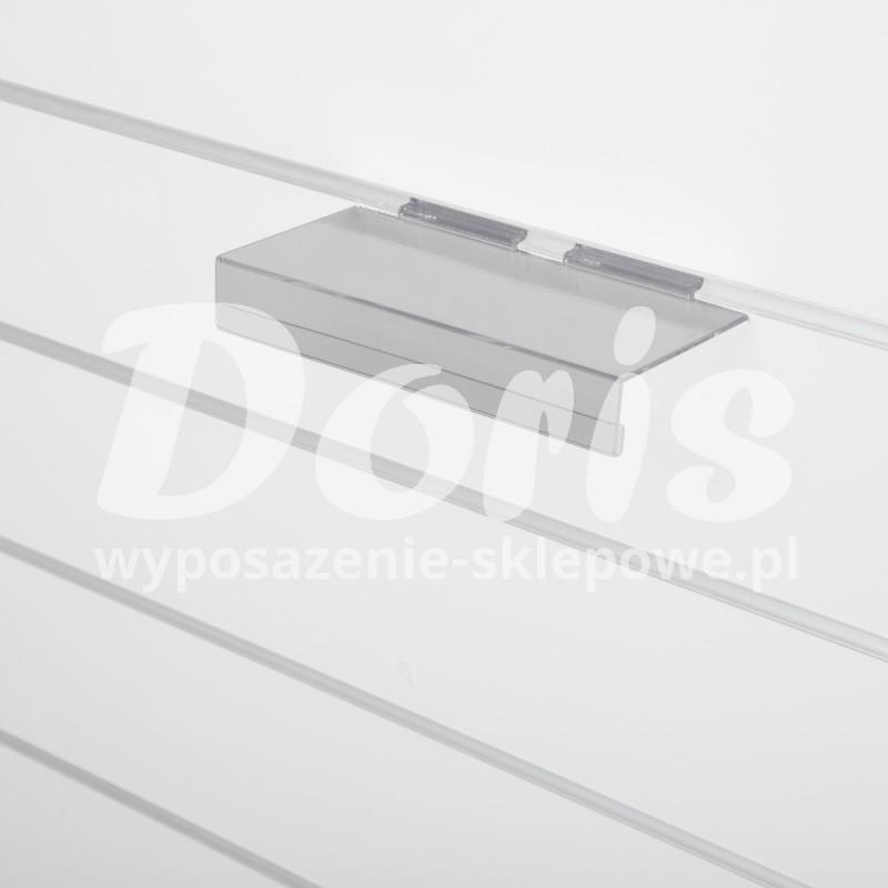 Półka z listwą cenową wewnętrzna wykonana z plexi SW615-B