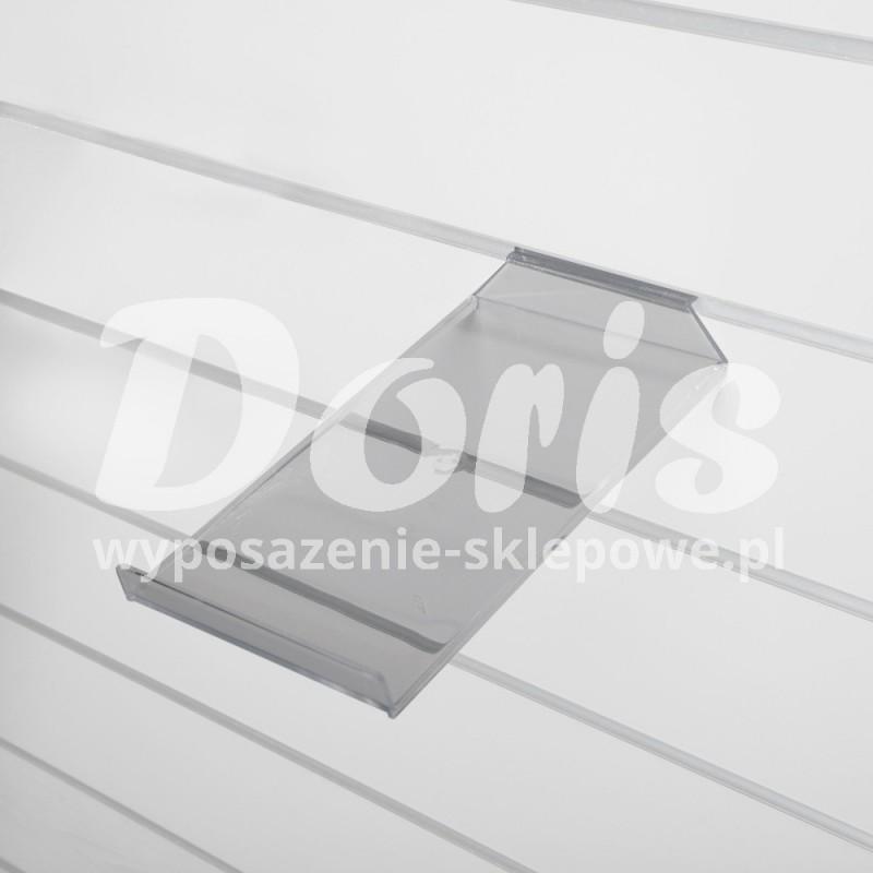 Półka pochyła o długości 18 cm wykonana z plexi SW611-0