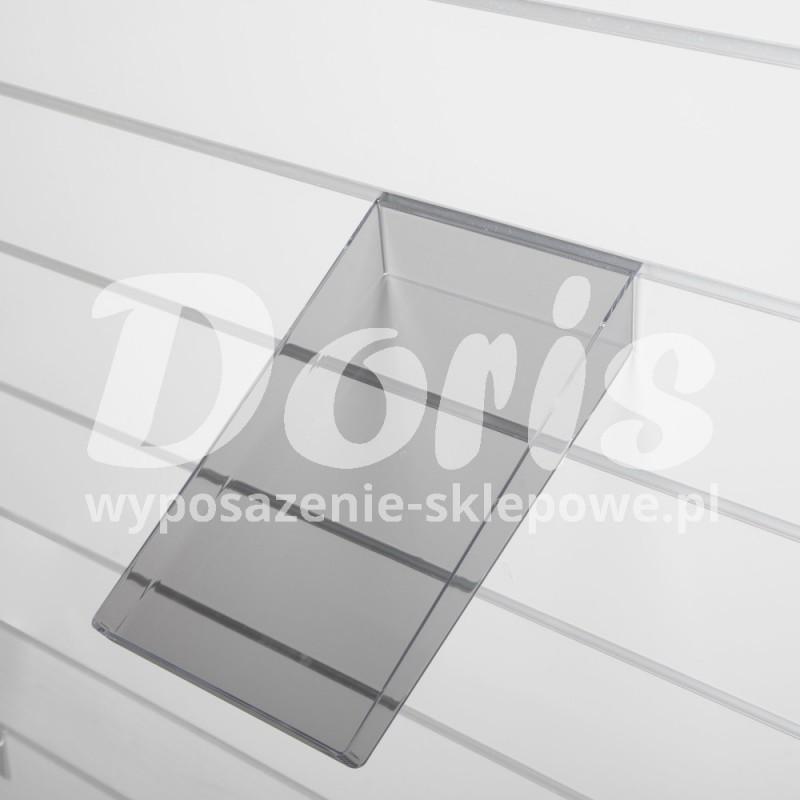 Półka pochyła z obrzeżami o długości 22 cm wykonana z plexi SW610-0