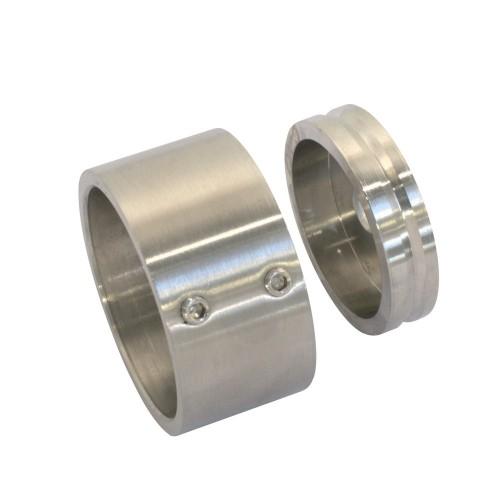 Końcówka mocująca dwuczęściowa ze stali nierdzewnej do rury fi 42.4 mm PR736-0