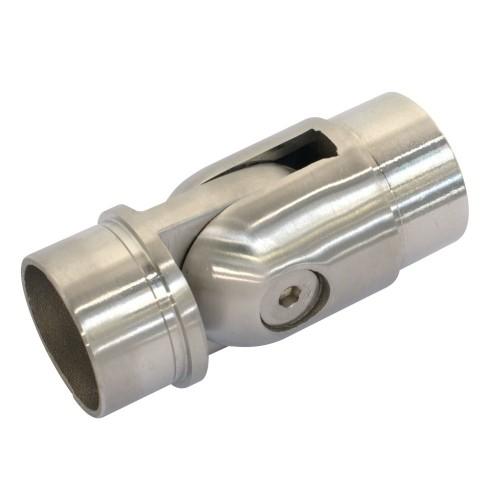 Łącznik przegubowy ze stali nierdzewnej do rury fi 42.4 mm PR732-0-INX