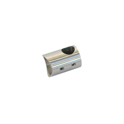 Uchwyt końcowy lewy ze stali nierdzewnej do rury fi 12 i fi 42.4 mm PR709-0
