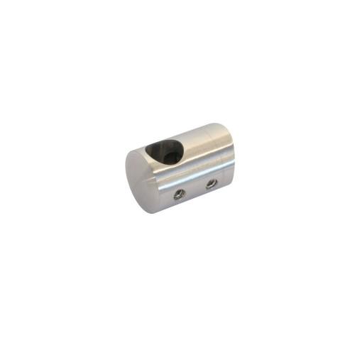 Uchwyt końcowy prawy ze stali nierdzewnej do rury fi12 i fi 42.4 mm PR710-0