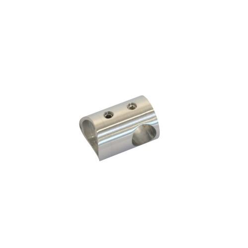 Uchwyt przelotowy ze stali nierdzewnej do rury fi 12 i fi 42.4 mm PR707-0