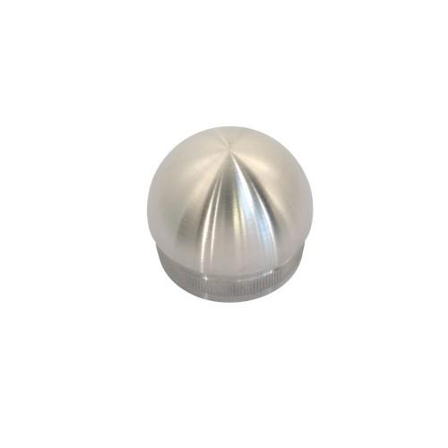 Zaślepka półkolista ze stali nierdzewnej do rury fi 42.4 mm PR741-0