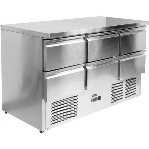 Stół chłodniczy 368 L z 6 szufladami YG-05281