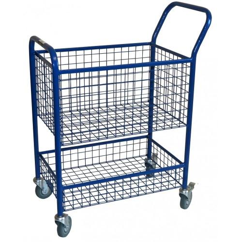 Wózek na kółkach biurowy do przewożenia dokumentów, poczty, teczek, akt sądowych 76x42x100 cm nośność 150kg