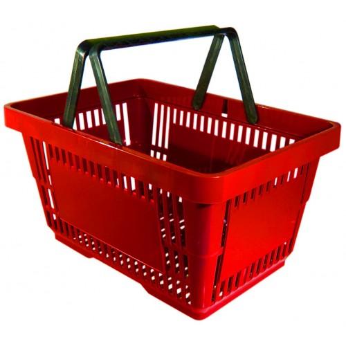 Koszyk sklepowy na zakupy, rączka podwójna 22 l (022022)