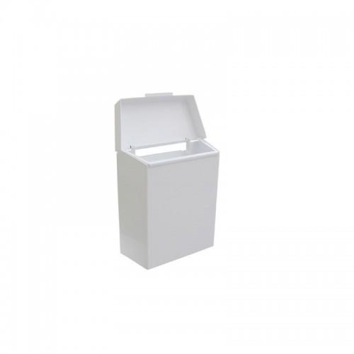Kosz do damskich toalet w kolorze białym o pojemności 4,5 litra KSB301/MER