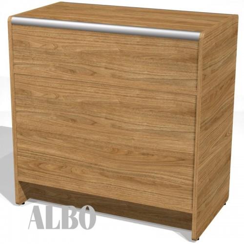Lada sklepowa pełna o wymiarach 90x50x90 cm LPP 1-90/ALB