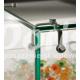Gablota szklana z drzwiami o wymiarach 60x40x60 cm AL 13/M/ALB