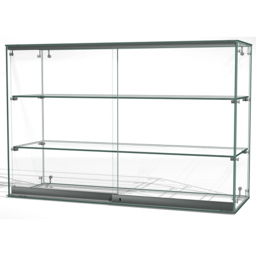 Gablota szklana z drzwiami o wymiarach 90x30x60 cm AL 12-D/ALB