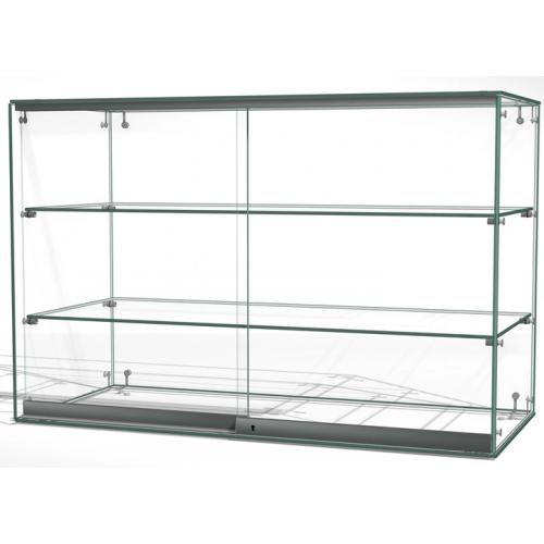 Gablota szklana z drzwiami o wymiarach 90x40x60 cm AL 13-D/ALB