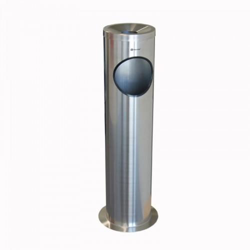 Popielnica stojąca ze stali matowej z podstawą KIM804/MER