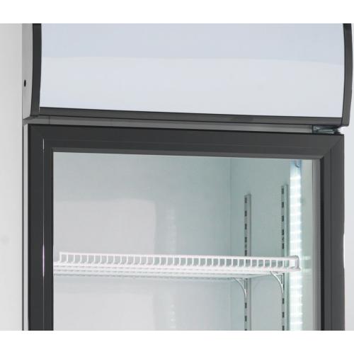 Szafa chłodnicza przeszklona do sklepu, gastronomii, wym. 390x475x1880mm o poj. 160 litrów, RES/RQ 216