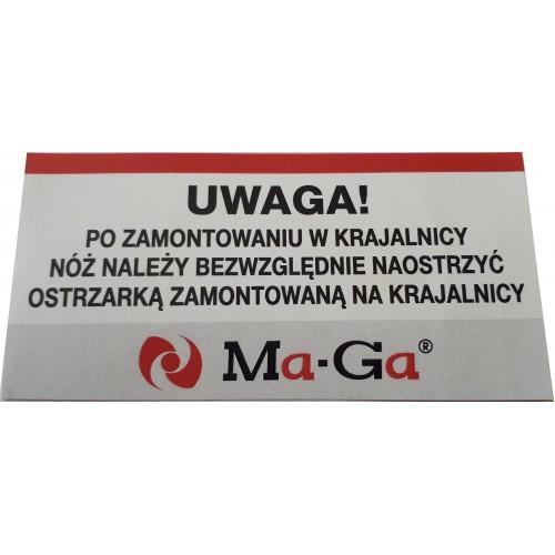 Tarcza, nóż do sera do krajalnicy Ma-Ga 110p, serwis, części