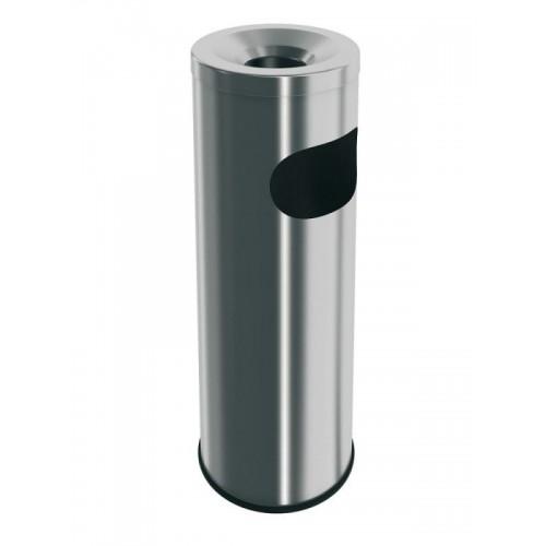 Popielnica ze stali nierdzewnej matowej z koszem o pojemności 9 litrów P1M/MER