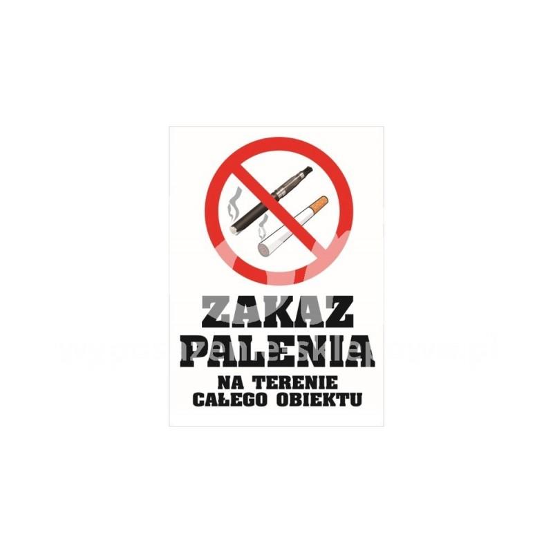 Naklejka zakaz palenia o wymiarach 15x20 cm