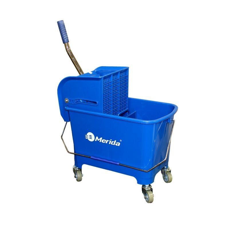 Wiadro na kółkach z wyciskarką i prasą do mopów o pojemności 17 litrów MO9/MER