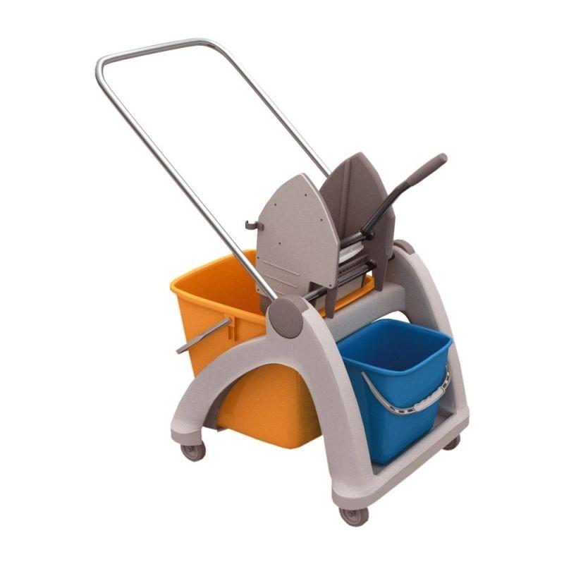 Wózek do sprzątania z tworzywa sztucznego z wiadrami o pojemności 31 litrów MO2P/MER