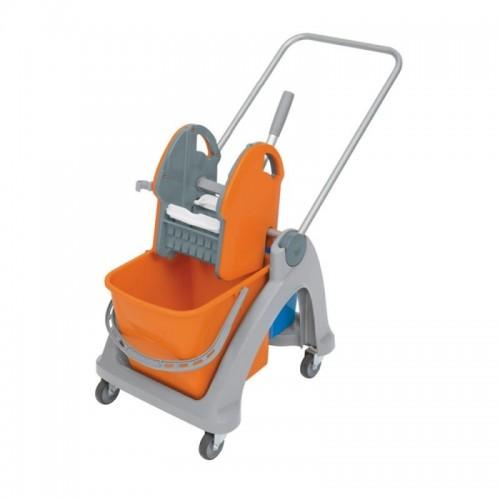 Wózek do sprzątania z tworzywa sztucznego z wiadrami o pojemności 31 litrów MO2P