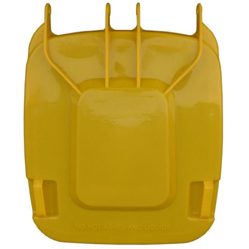 Pokrywa do kosza o pojemności 240 litrów w kolorze żółtym KJY913/MER