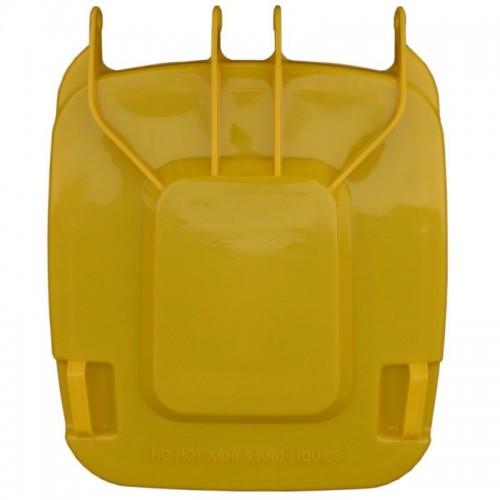 Pokrywa do kosza o pojemności 240 litrów w kolorze żółtym KJY913