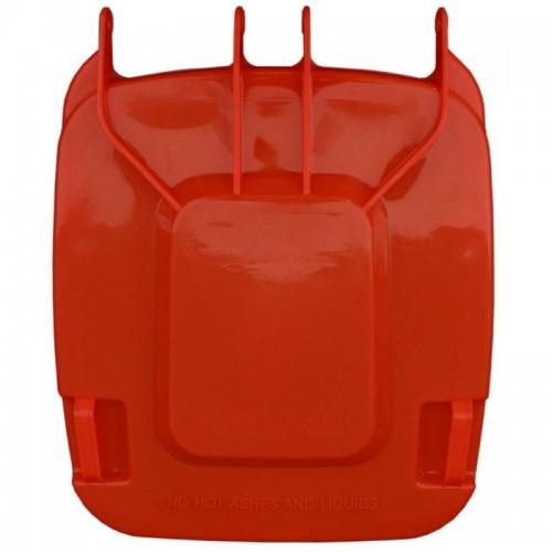 Pokrywa do kosza o pojemności 240 litrów w kolorze czerwonym KJR913
