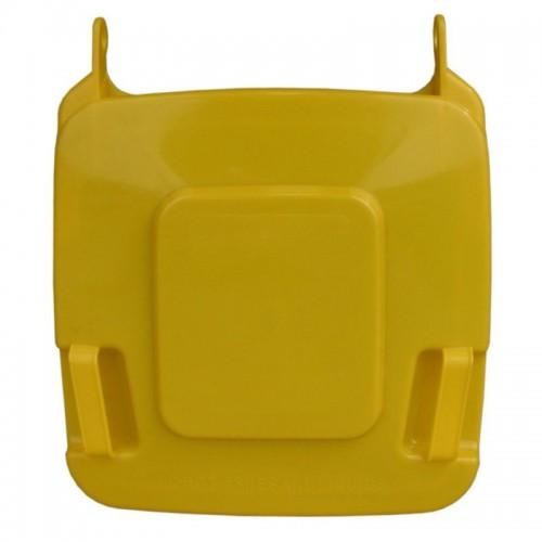 Pokrywa do kosza o pojemności 120 litrów w kolorze żółtym KJY912
