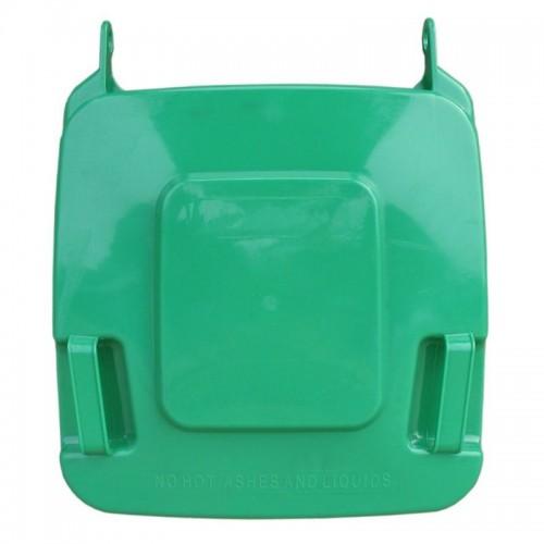 Pokrywa do kosza o pojemności 120 litrów w kolorze zielonym KJZ912