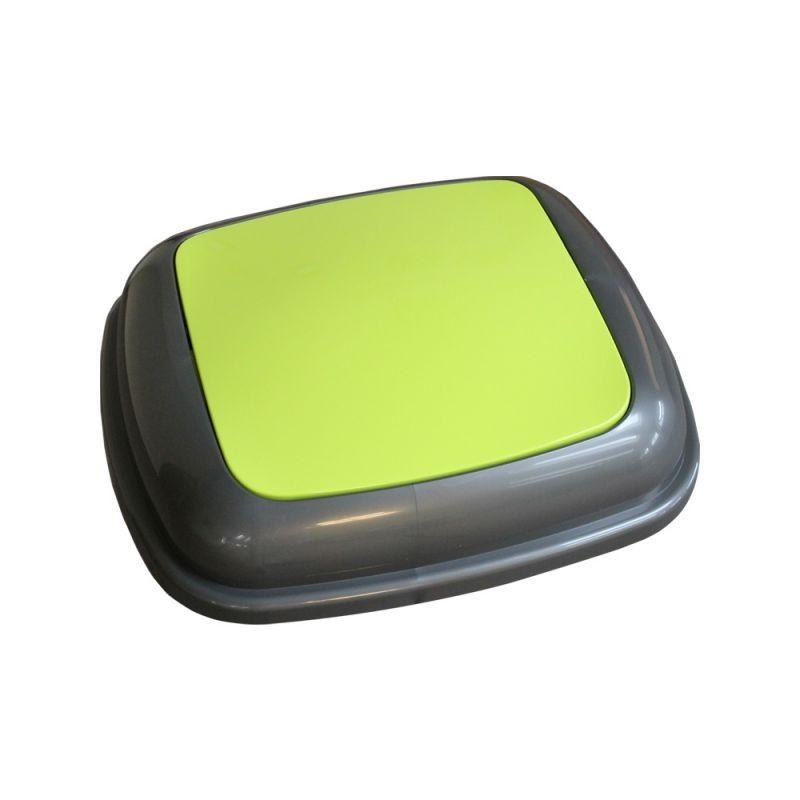 Pokrywa kosza Quatro grafitowa z zieloną klapką KJZ914/MER
