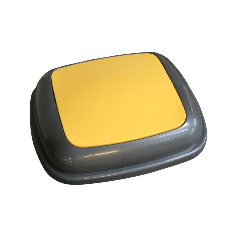 Pokrywa kosza Quatro grafitowa z żółtą klapką KJY914/MER