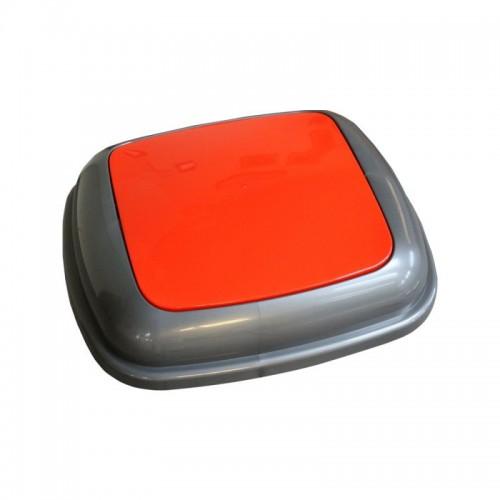 Pokrywa kosza Quatro grafitowa z czerwoną klapką KJR914