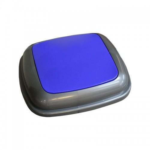 Pokrywa kosza Quatro grafitowa z niebieską klapką KJN914