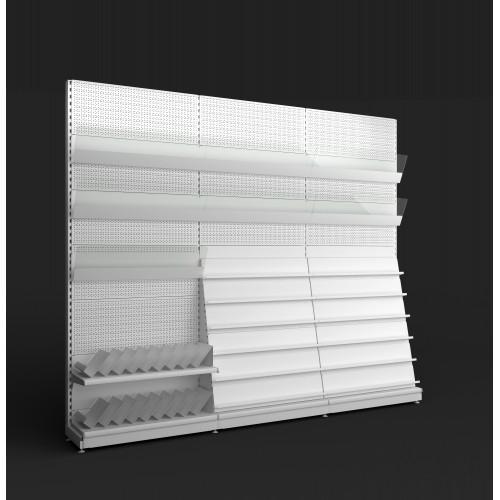 Regał metalowy sklepowy przyścienny Mago 230x125