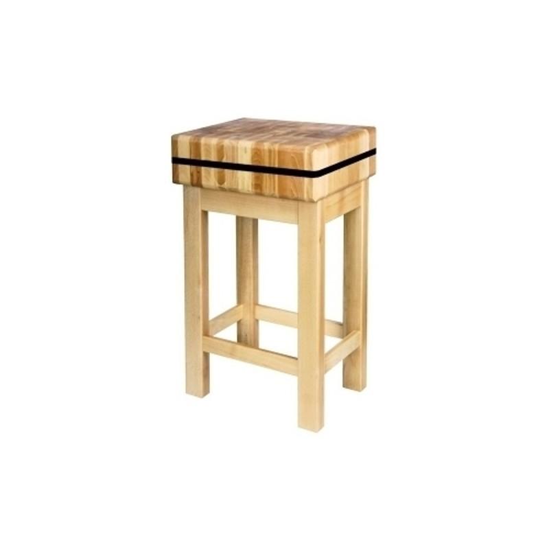 Kloc masarski z podstawą drewnianą 40x40x15 40x40x15PD/JAN